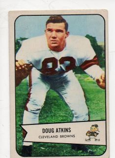 1954 Bowman Football #4 Doug Atkins Clevela nd Browns ROOKIE