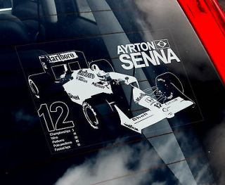 Ayrton Senna   Formula 1 Car Sticker   F1 Mclaren MP4 4