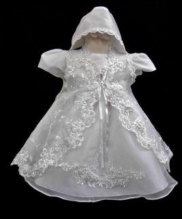 Infant Toddler Girl Communion Christening Baptism Dress Gown (0