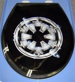 Star Wars Bath Custom Toilet Seat, Imperial Logo Design, Cut Metal
