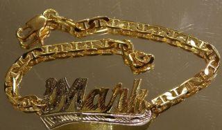 CHILD baby PERSONALIZED 14K gold overly any Name id Bracelet /bangle