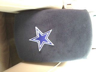 Auto Center Console Armrest Covers F6  DK Gray w/Dallas Cowboys Patch