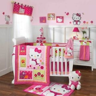 Piece Crib Bedding Set Hello Kitty Garden Includes Mobile & Blanket