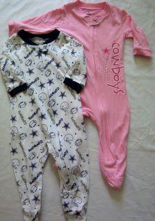 Cowboys Girls Baby Infant Creeper Playsuit Bodysuit 2 Pack NWT 3/6M