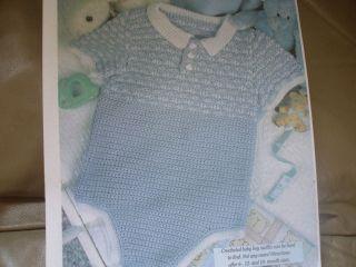 Baby Boy Onsie ~ Crochet Pattern~ sz 6,12 & 18months