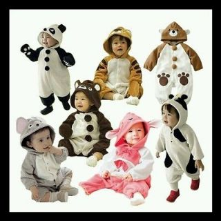 , MOUSE, TIGER, PANDA, COW, BUNNY Baby Romper, Onesie Fancy Dress UK