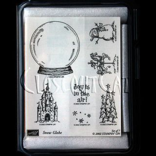 STAMPIN UP Snow Globe STAMPS SET RARE Horse Snowman Christmas Tree