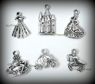 Charm Mix • Princess Charm Bracelet • Wedding Jewelry Making