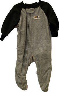 BALTIMORE RAVENS BABY SLEEPER Fleece BODYSUIT Assorted Sizes