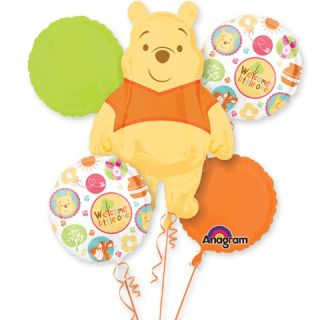 Pooh Welcome Little One Baby Shower, New Arrival Mylar Bouquet, New