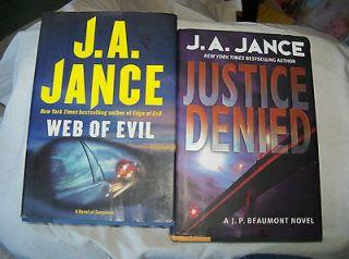 Jance Book Lot Mystery Suspense Partner in Crime Web of Evil