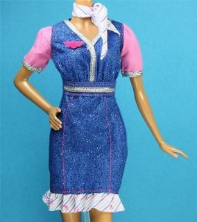 be Stewardess Flight Attendant Dress Outfit Airplane Model Muse Barbie