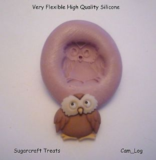 Owl Animal Silicone Mould Sugarcraft, Cup Cake Card Toppers, Fimo