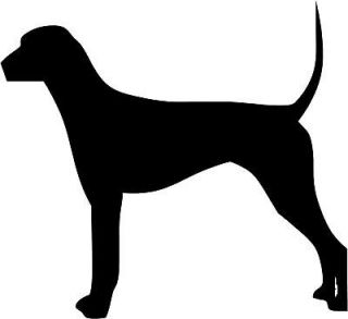 Plott Hound Dog Decal 3.75x4.1 choose color