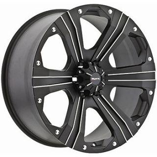18x9 Black Ballistic Outlaw Wheels 6x135  12 Lifted FORD F 150