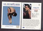 1992 U. S. OLYMPIC HOPEFULS MARK LENZI DIVING CARD #36