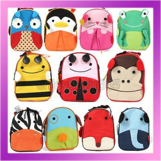 Book Bag Lunch Box Animal ZOO Handbag Child Toddler Boys Girls Kids