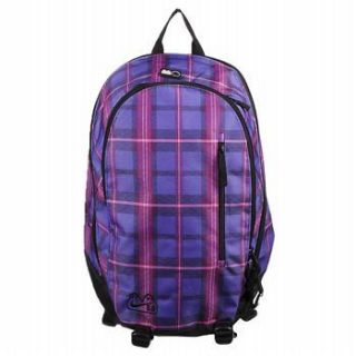 NIKE WOMENS/JRS PURPLE/PINK PLAID SOLO BACKPACK NEW $50