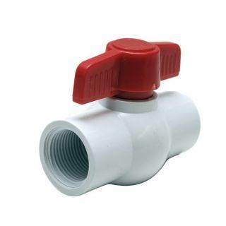 TRACKER 133515 WHITE / RED 1 1/4 INCH PVC BOAT SHUT OFF BALL VALVE