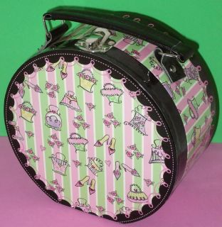 Victorian Mini Hat Box Purse Handle Lid Storage Decorative Purses
