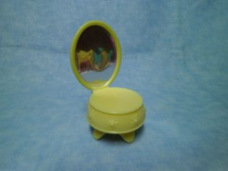 Littlest Pet Shop YELLOW VANITY TABLE WITH MIRROR accessory part