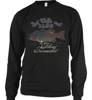 Red White and Bass Fishing Tournament Long Sleeve Thermal T Shirt Fish