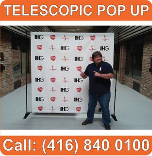 Trade Show TELESCOPIC Pop Up Booth Graphic Display Banner Stands (NEW