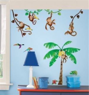 BUSINESS stick ups 40 decals banana tree vines swinging wall stickers