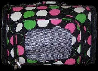 Luggage Style multicolored Dots dog cat Pet Travel Carrier Airline