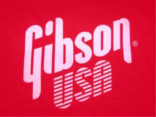Gibson USA T SHIRT bass guitar rock punk les paul S 3X