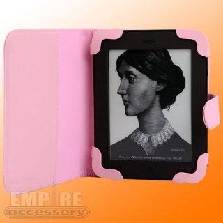 Pink Leather Case Cover for  Nook Simple Touch eReader