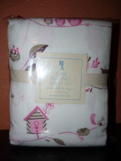 Pottery Barn Kids OWL Hayley Flannel Duvet Cover Pink or Sheets Set