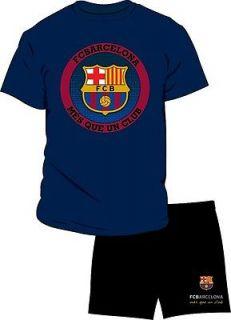 Mens Barcelona Football Club Short Pyjama S M L XL Great Present