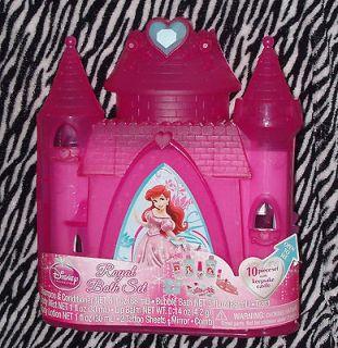 Disney Princess Ariel Royal Bath Gift Set Keepsake Castle Tiara Lip