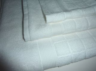 KLEIN WHITE HIGH QUALITY 3PC SET BATH TOWEL, HAND TOWEL, WASHCLOTH