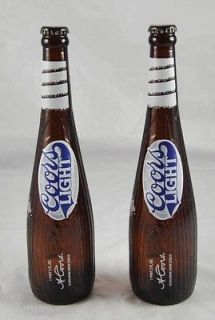 Coors Light Commemorative Bottles Baseball Bat Amber Glass d5p3