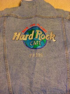 Newly listed Hard Rock Cafe [NEW] PARIS Denim Jacket   Large
