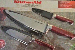 KitchenAid 3 Piece Chefs knife Set Brand New
