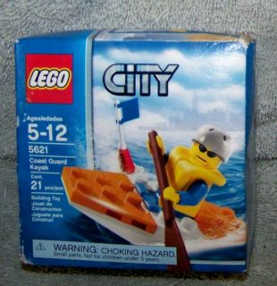 NEW LEGO 2008 CITY COAST GUARD KAYAK SET #5621 AGES 5 12