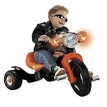 Kids Harley Davidson Light & Sound Motorcycle Tricycle 3 Wheel Fisher