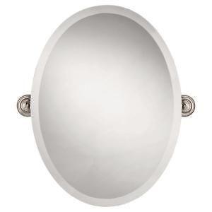 Greenwich 18X24 Oval Tilting Wall Mirror; Nickel finish