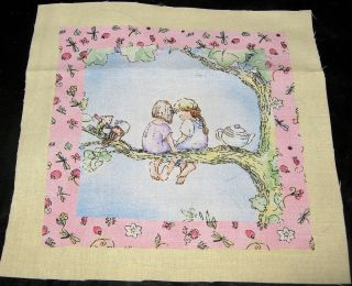 1d Becky Kelly/Timeless Treasures labels quilt square fabric panel 7 1