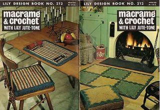 Crochet HANDBAGS TOTE RUGS POT HOLDERS BATH SET PLACE MATS PATTERN