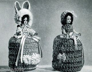 Crochet Toilet Tissue Paper Cover Pattern Indian Eskimo Bunny