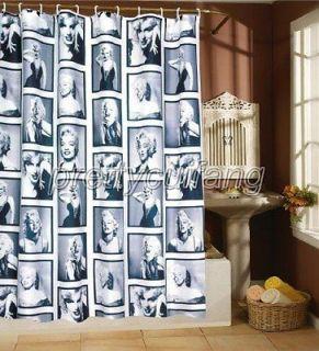 Popular Marilyn Monroe Pictrue Bathroom Fabric Shower Curtain ps025