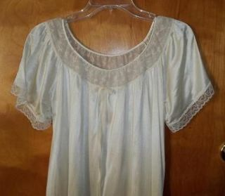 DIXIE BELLE NIGHT GOWN SOFT NYLON CREAM LARGE 38 40 SLEEPWEAR NEW