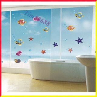 Fish Removable Wall Vinyl Sticker Decals Wallpaper For Window Bathroom