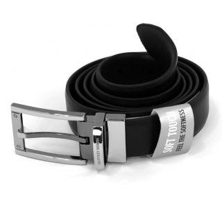 Geoffrey Beene Men's Belt Casual and Dress Leather Black Brown Tan