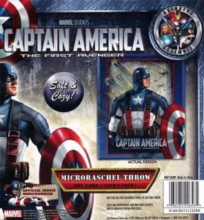 AMERICA First Avenger MARVEL COMICS 50 x 60 Microraschel THROW BLANKET