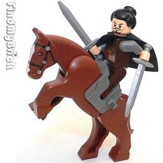 NEW Lego Three Kingdoms Custom Liu Bei Minifig & Horse 三国の劉備